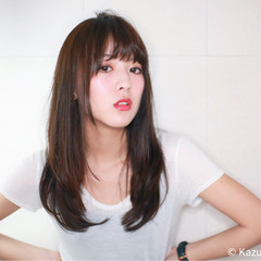 大人女子 ロング ストレート 大人かわいい ヘアスタイルや髪型の写真・画像