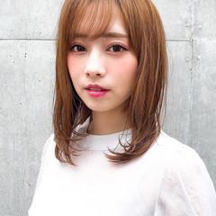 フェミニン ミディアム デジタルパーマ デート ヘアスタイルや髪型の写真・画像