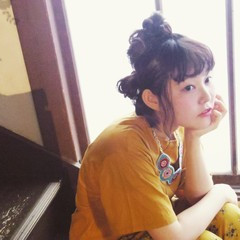 ヘアアレンジ 抜け感 ミディアム ガーリー ヘアスタイルや髪型の写真・画像