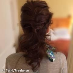 結婚式 二次会 ヘアアレンジ ロング ヘアスタイルや髪型の写真・画像