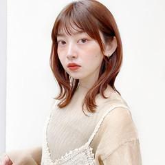 レイヤースタイル ミディアムレイヤー レイヤーカット ミディアム ヘアスタイルや髪型の写真・画像