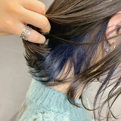 ブリーチカラー ミニボブ 切りっぱなしボブ モード ヘアスタイルや髪型の写真・画像
