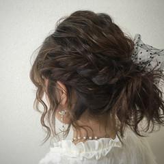 ヘアアレンジ ボブ 波ウェーブ ヘアスタイルや髪型の写真・画像