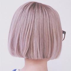 切りっぱなし 外国人風 グラデーションカラー ヘアアレンジ ヘアスタイルや髪型の写真・画像