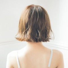 外ハネ 色気 透明感 ボブ ヘアスタイルや髪型の写真・画像