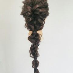 くるりんぱ 四つ編み 簡単ヘアアレンジ 大人かわいい ヘアスタイルや髪型の写真・画像