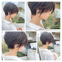 パーマ ナチュラル ショート マッシュショート ヘアスタイルや髪型の写真・画像