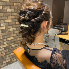 ミディアムヘアー ふわふわヘアアレンジ ミディアム アイロンワーク ヘアスタイルや髪型の写真・画像