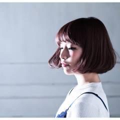 ガーリー ボブ ナチュラル 春 ヘアスタイルや髪型の写真・画像