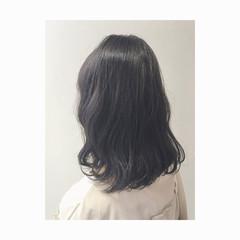 アッシュ 暗髪 大人かわいい ナチュラル ヘアスタイルや髪型の写真・画像