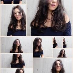 ロング ストリート 暗髪 ヘアスタイルや髪型の写真・画像