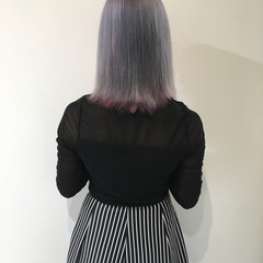 外国人風 暗髪 グラデーションカラー アッシュ ヘアスタイルや髪型の写真・画像