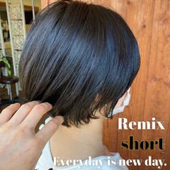 40代 ショート ナチュラル ショートヘア ヘアスタイルや髪型の写真・画像