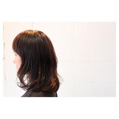くせ毛風 ボブ ミディアム イルミナカラー ヘアスタイルや髪型の写真・画像