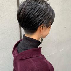 モード ベリーショート ショートボブ 刈り上げ ヘアスタイルや髪型の写真・画像