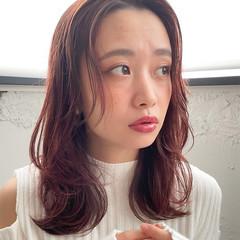 オフィス ミディアム 結婚式 パーティ ヘアスタイルや髪型の写真・画像