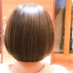 グレージュ 大人かわいい モテ髪 ボブ ヘアスタイルや髪型の写真・画像