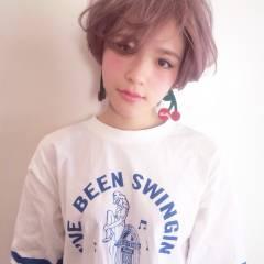 ショート ストリート ガーリー 外国人風 ヘアスタイルや髪型の写真・画像
