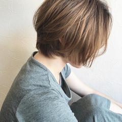 ショートボブ ハイトーンカラー ショート ナチュラル ヘアスタイルや髪型の写真・画像