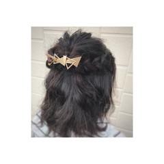ナチュラル 三つ編み デート ヘアアレンジ ヘアスタイルや髪型の写真・画像