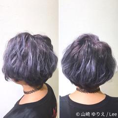 ハイライト アッシュ ストリート グラデーションカラー ヘアスタイルや髪型の写真・画像