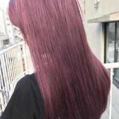 ラベンダーピンク ロング ハイトーン ピンク ヘアスタイルや髪型の写真・画像