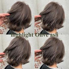 ハイライト ローライト ボブ 外国人風 ヘアスタイルや髪型の写真・画像