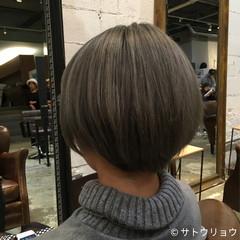 外国人風 ショート 外国人風カラー グレージュ ヘアスタイルや髪型の写真・画像