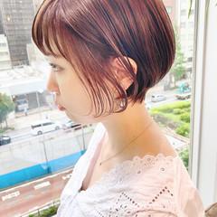 オフィス ショート ショートヘア ショートボブ ヘアスタイルや髪型の写真・画像