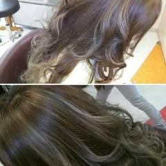 グラデーションカラー ロング コンサバ 渋谷系 ヘアスタイルや髪型の写真・画像