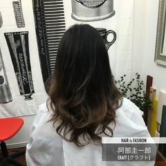 大人かわいい グラデーションカラー 外国人風 暗髪 ヘアスタイルや髪型の写真・画像