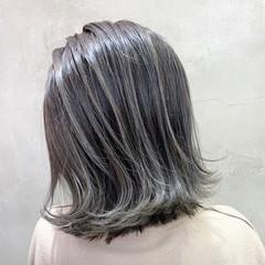 バレイヤージュ ミディアム ブリーチ スポーツ ヘアスタイルや髪型の写真・画像