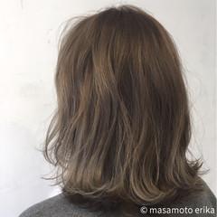 ボブ グラデーションカラー ウェーブ ナチュラル ヘアスタイルや髪型の写真・画像