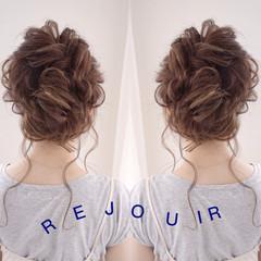 結婚式 フェミニン ヘアアレンジ 色気 ヘアスタイルや髪型の写真・画像