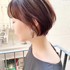 ショートヘア ショートボブ 大人かわいい デート ヘアスタイルや髪型の写真・画像