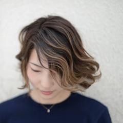ハイライト 3Dカラー グラデーションカラー ストリート ヘアスタイルや髪型の写真・画像