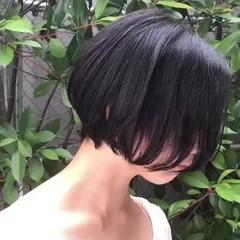 黒髪 ナチュラル レイヤーボブ デート ヘアスタイルや髪型の写真・画像