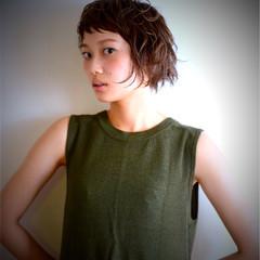 ヘアアレンジ イエロー オレンジ ナチュラル ヘアスタイルや髪型の写真・画像