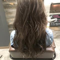 ハイライト ブラウン グラデーションカラー アッシュ ヘアスタイルや髪型の写真・画像