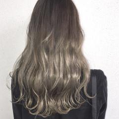 バレイヤージュ ブリーチ 春 ロング ヘアスタイルや髪型の写真・画像