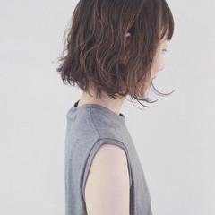 夏 フェミニン ボブ 大人かわいい ヘアスタイルや髪型の写真・画像