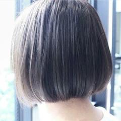 大人かわいい フェミニン ボブ 暗髪 ヘアスタイルや髪型の写真・画像