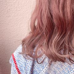 ブリーチなし セミロング エレガント 透明感カラー ヘアスタイルや髪型の写真・画像