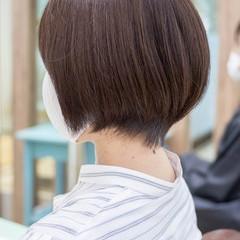 フェミニン 前下がりボブ ボブ 前下がりショート ヘアスタイルや髪型の写真・画像