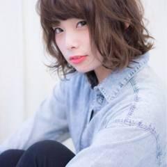 モテ髪 大人女子 ゆるふわ ボブ ヘアスタイルや髪型の写真・画像