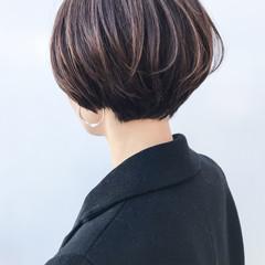 女子力 ハイライト ショート コンサバ ヘアスタイルや髪型の写真・画像