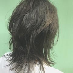 ミディアム ストリート 外国人風カラー グレージュ ヘアスタイルや髪型の写真・画像