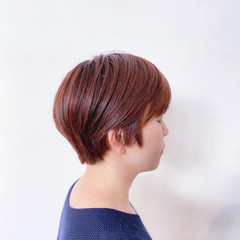 ショートヘア ピンクベージュ ベリーショート ショート ヘアスタイルや髪型の写真・画像