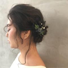 ヘアアレンジ 大人かわいい 二次会 結婚式 ヘアスタイルや髪型の写真・画像