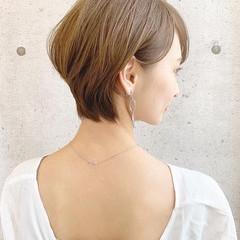 ハンサムショート マッシュショート 小顔ショート 大人カジュアル ヘアスタイルや髪型の写真・画像